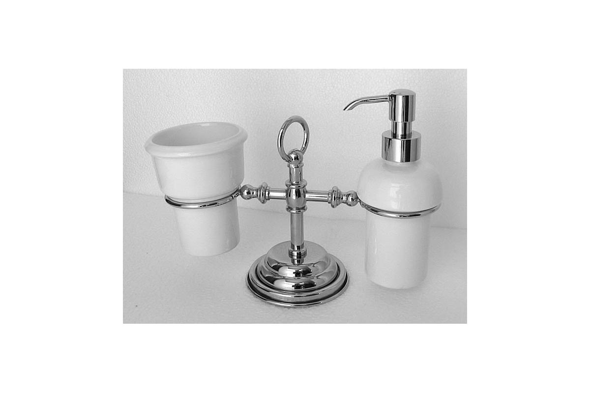 porta dispenser e porta bicchiere da appoggio ottone bronzo cromo oro accessori bagno