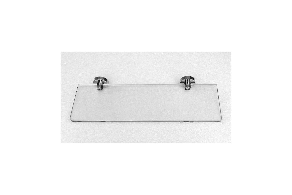 mensola vetro cm40 ottone cromo accessori bagno